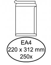 , Envelop Hermes akte EA4 220x312mm zelfklevend wit 250stuks