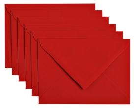 , Envelop Papicolor C6 114x162mm rood