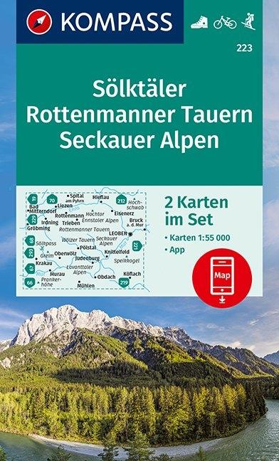 KOMPASS-Karten GmbH,KOMPASS Wanderkarte Sölktäler, Rottenmanner Tauern, Seckauer Alpen 1:55 000