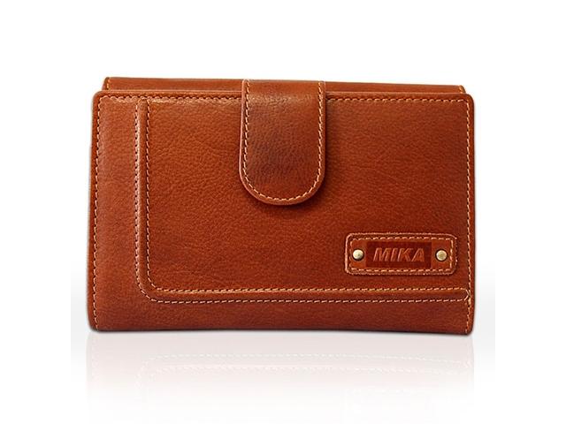 ,Portefeuille dames Mika cognac leer. 15x10x3,5cm