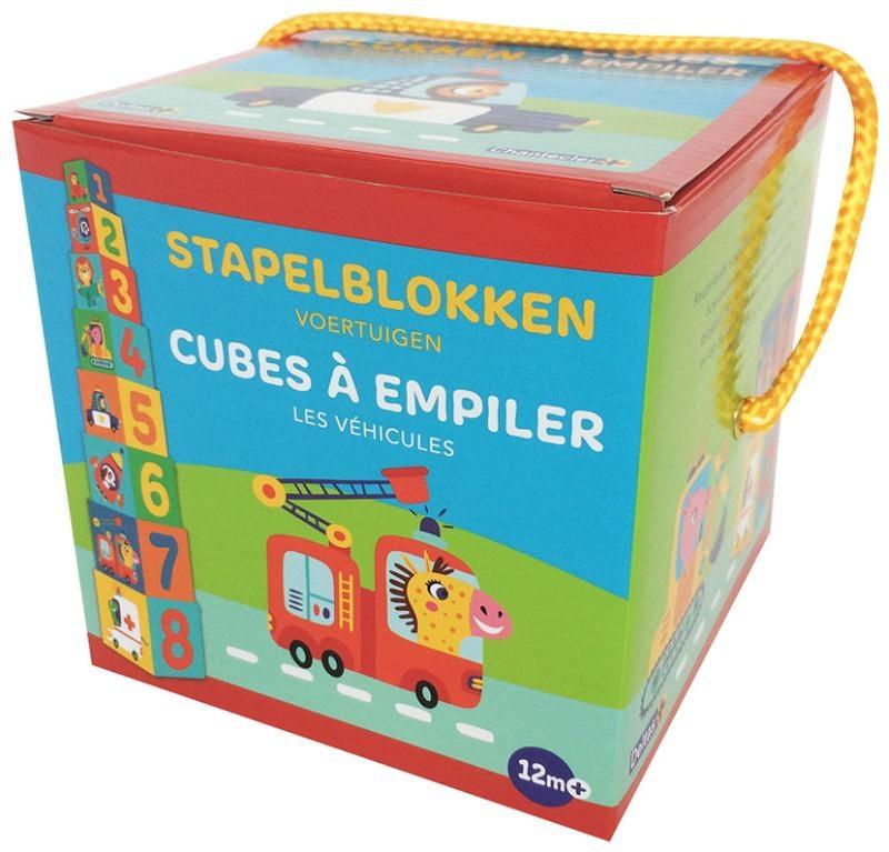 ZNU,Stapelblokken - Voertuigen (+ 12 m) Cubes à empiler - Les véhiclules (+ 12 m)