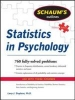 Stephens, Larry,Schaum`s Outline of Statistics in Psychology