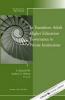 Ellis, J. Richard,In Transition: Adult Higher Education Governance in Private Institutions