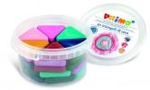 ,PRIMO - Pot met 30 driehoek waskrijtjes (pastelkleuren)