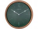 <b>!wandklok NeXtime dia. 30 cm  kurk/glas, groen, `Cork`</b>,