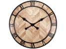 ,<b>Wandklok Nextime Roman Vintage dia 58cm hout licht bruin</b>