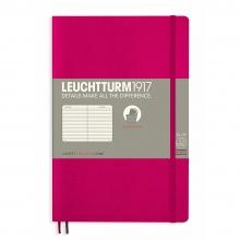Lt358293 , Leuchtturm notitieboek softcover 19x12.5 cm lijn kersenrood