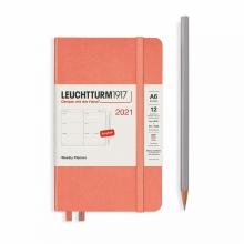 Lt362002 , Leuchtturm agenda 2021 pocket 9x15 9x15 7d2p oranje bellini