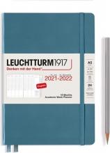 , Leuchtturm academic week planner 2021-2022 medium a5 stone blue