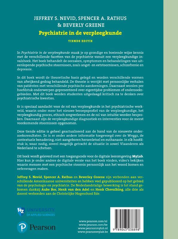 Jeffrey S. Nevid, Spencer A. Rathus, Beverly Greene,Psychiatrie in de verpleegkunde