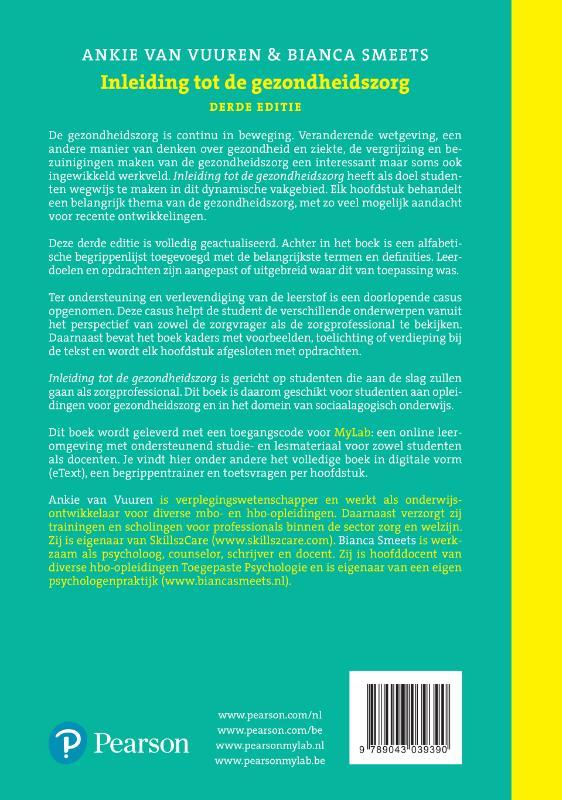 Ankie van Vuuren, Bianca Smeets,Inleiding tot de gezondheidszorg, 3/e met MyLab NL toegangscode