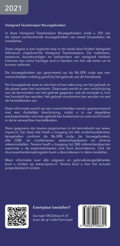 Koëter Vastgoed Adviseurs,Vastgoed Taxatiewijzer Bouwgebreken 2021