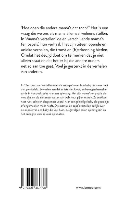 Lore De Vilder, Mama Baas,Mama`s vertellen - Ontroostbaar
