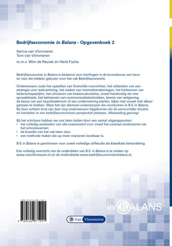 Sarina van Vlimmeren, Tom van Vlimmeren,Bedrijfseconomie in Balans havo opgavenboek 2