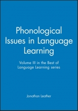 Jonathan Leather Phonological Issues in Language Learning
