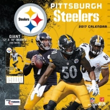 Cal 2017 Pittsburgh Steelers 2017 12x12 Team Wall Calendar