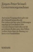 Stössel, Jürgen-Peter Gesternmorgenschnee