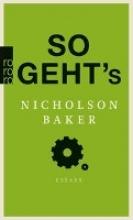 Baker, Nicholson So geht`s