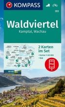 KOMPASS-Karten GmbH , KOMPASS Wanderkarte Waldviertel, Kamptal, Wachau