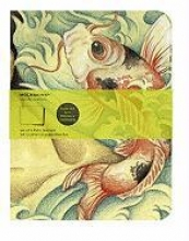 Moleskine Cover Art Carp Fish. Set of 2 Plain Journals