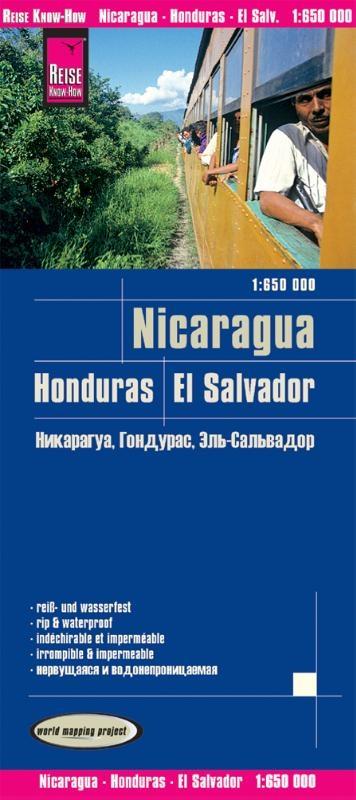 ,Nicaragua, Honduras, El Salvador 1 : 650 000