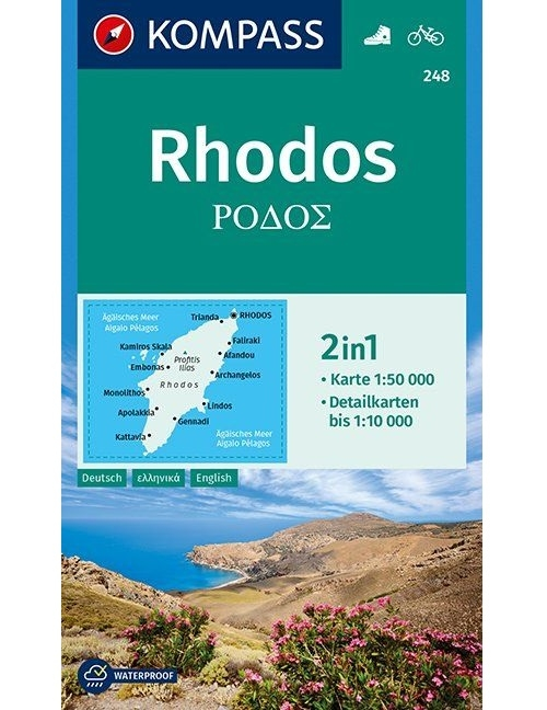 Kompass-Karten Gmbh,Rhodos 1:50 000