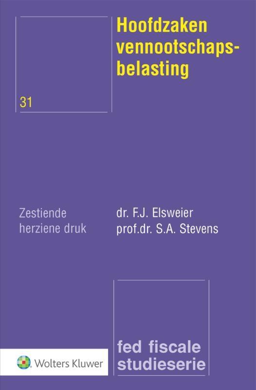 F.J. Elsweier,Hoofdzaken vennootschapsbelasting