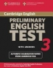 Cambridge Preliminary English Test 3. Student`s Book with answers. Lower-Intermediate,Examination papers from University of Cambridge ESOL Examinations